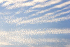 Abstract background of white clouds and blue sky Stock Photo