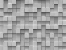 Abstract background - white color cubes. Different height Royalty Free Stock Images