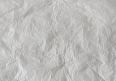 Abstract Background - White Crumpled Paper. Royalty Free Stock Photos