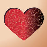 Abstract background with white heart. Abstract background with hearts. Vector illustration Stock Photography