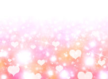 Abstract background of white hearts Stock Photos