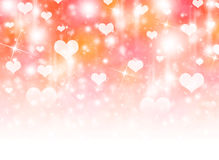 Abstract background of white hearts Royalty Free Stock Image