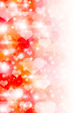 Abstract background of white hearts Stock Photo