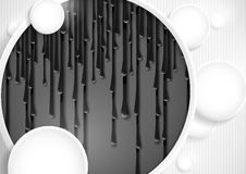 Abstract Background With White Paper Circles. Royalty Free Stock Photos