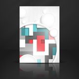 Abstract Background With White Paper Circles. Vector Illustration. Eps 10 Royalty Free Stock Photo