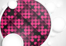 Abstract Background With White Paper Circles. Vector Illustration. Eps 10 royalty free illustration