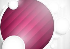 Abstract Background With White Paper Circles. Vector Illustration. Eps 10 Royalty Free Stock Image