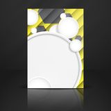 Abstract Background With White Paper Circles Royalty Free Stock Images