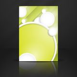Abstract Background With White Paper Circles. Vector Illustration. Eps 10 Stock Photography