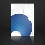 Abstract Background With White Paper Circles Royalty Free Stock Photos