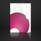 Abstract Background With White Paper Circles. Vector Illustration. Eps 10 Royalty Free Stock Photography
