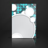 Abstract Background With White Paper Circles. Vector Illustration. Eps 10 vector illustration