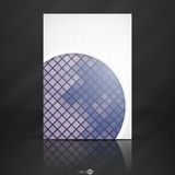 Abstract Background With White Paper Circles. Vector Illustration. Eps 10 Stock Image