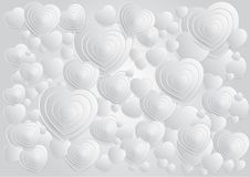 Abstract background  circle white. Abstract background  white paper cut art design wallpaper pattern step complex light spac leave mini minimal heart valentine Royalty Free Stock Image