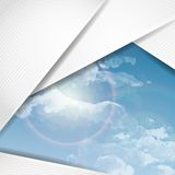Abstract Background With White Paper Layers Royalty Free Stock Photo