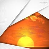 Abstract Background With White Paper Layers Royalty Free Stock Photography
