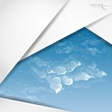 Abstract Background With White Paper Layers Royalty Free Stock Image