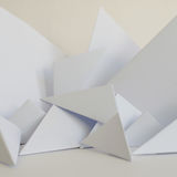 Abstract background of white paper triangles Royalty Free Stock Photo