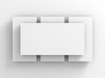 Abstract Background Of White Picture Card Or Frame Stock Photo
