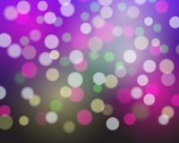Abstract background with white, purple and yellow and pink and g. Reen blurred lights - vector for disco, celebration and party concept Royalty Free Illustration