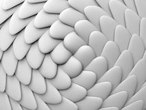 Abstract background white shapes Stock Images
