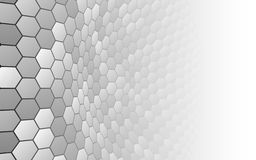 Abstract background with white shapes. Vector illustration. Perspective grid hexagonal surface. Abstract background with white shapes. Vector illustration stock illustration