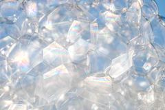 Abstract background white soapy foam texture. Shampoo foam with. Bubbles Stock Photos