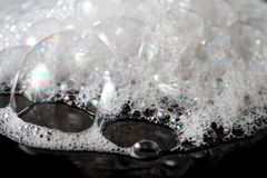 Abstract background white soapy foam texture. Shampoo foam with. Bubbles Royalty Free Stock Images