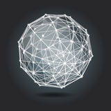 Abstract background with white sphere on theme digital. Technology and internet stock illustration