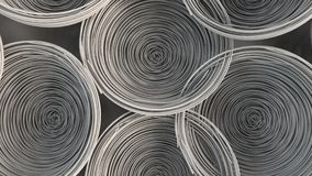 Abstract background from white spiraled coils. Wires with depth of field. 3D rendering illustration Stock Photo