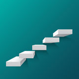 Abstract background with white stairs. Abstract background with white 3d stairs . Steps. Vector illustration Stock Image