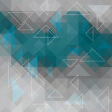 Abstract background with white triangles. Illustration Stock Image