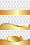 Abstract background white yellow gold illustration set. Vector Royalty Free Stock Image