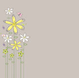 Abstract background wildflowers Stock Photos