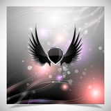 Abstract background with wings. Royalty Free Stock Images