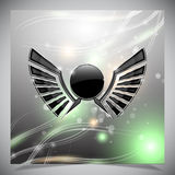 Abstract background with wings. Royalty Free Stock Photography