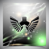 Abstract background with wings. Royalty Free Stock Photo