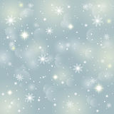 Abstract background winter. Abstract background of crystal snowflakes and snow, bright twinkling stars, highlights and sparkles. It can be used as a template vector illustration