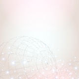 Abstract background. With wireframe sphere, sparks and space for your text Stock Photos