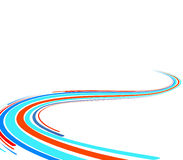Free Abstract Background With Blue And Red Lines Stock Images - 7700414