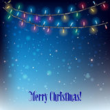 Abstract Background With Christmas Lights Royalty Free Stock Image