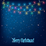 Abstract Background With Christmas Lights Royalty Free Stock Images