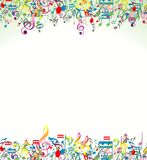 Abstract Background With Colorful Music Notes Stock Images