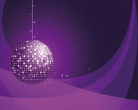 Abstract Background With Disco Ball. Stock Photo