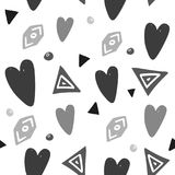 Abstract Background With Hand Drawn Hearts And Design Elements Royalty Free Stock Photo