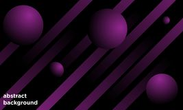 Free Abstract Background With Line And Bubble, Black And Violet Color Royalty Free Stock Images - 163649509