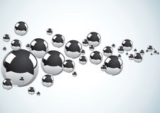 Abstract Background With Metal Balls Royalty Free Stock Photos