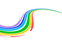 Abstract Background With Multicolored Bent Lines Stock Photo