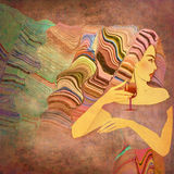 Abstract background woman Stock Images