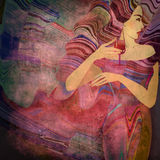 Abstract background woman Stock Photo